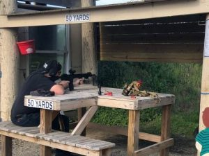 Me shooting AR-15 at a shooting range