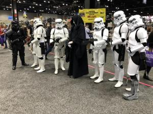 Palpatine and Stormtroopers
